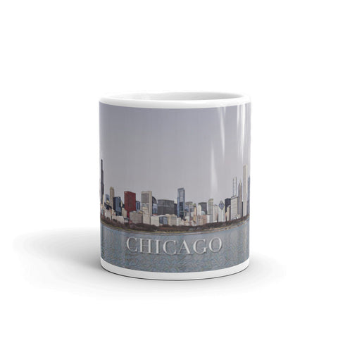 CHICAGO SKYLINE FROM LAKE MICHIGAN (Mosaic) - Mug