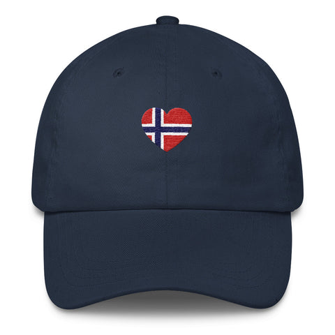 NORWEGIAN FLAG HEART (NORWAY) - Classic Ball Cap