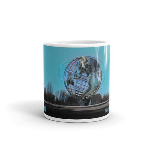 UNISPHERE, FLUSHING MEADOWS, NEW YORK (Teal) - Mug