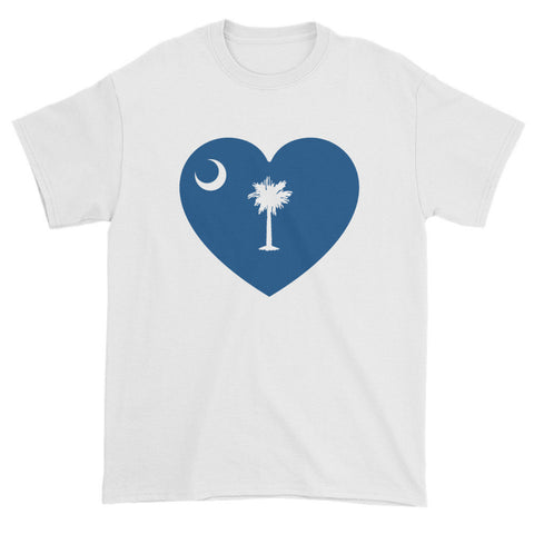 SOUTH CAROLINA HEART - Mens/Unisex short sleeve t-shirt