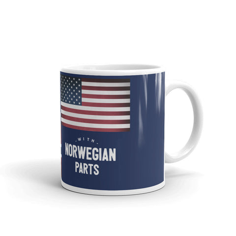 MADE IN AMERICA WITH NORWEGIAN PARTS (NORWAY) COFFEE & TEA MUG