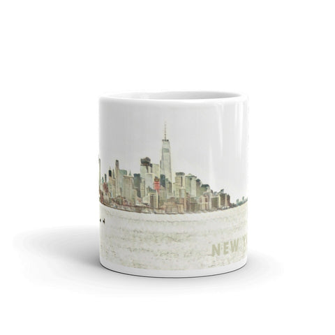 NEW YORK CITY DOWNTOWN SKYLINE - Mug