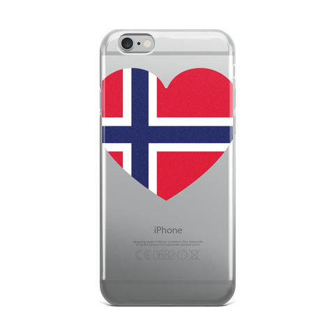 NORWAY HEART iPhone 5/5s/Se, 6/6s, 6/6s Plus Case