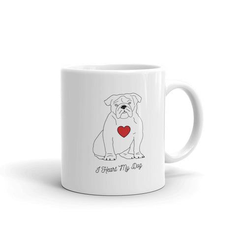 I HEART MY DOG - OLDE ENGLISH BULL DOG - Mug