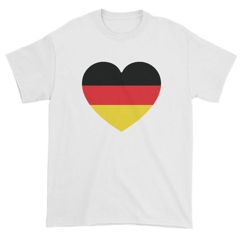 GERMANY FLAG HEART - Mens/Unisex short sleeve t-shirt