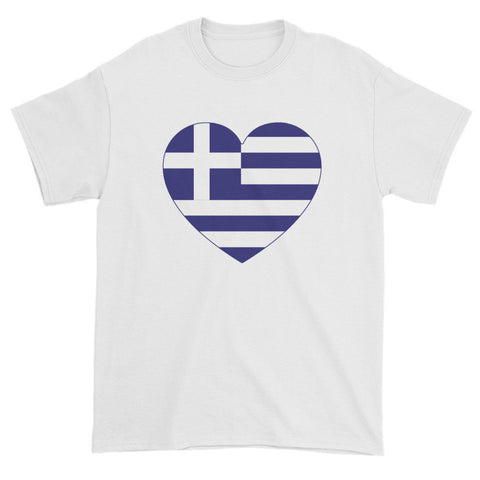 GREECE FLAG HEART - Mens/Unisex short sleeve t-shirt