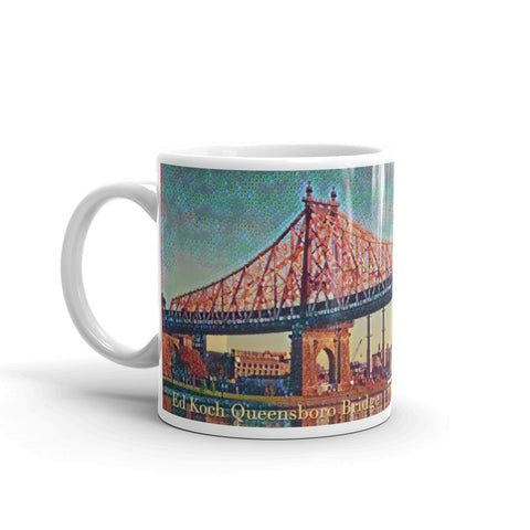 ED KOCH QUEENSBORO BRIDGE, NEW YORK CITY (Bubbles) - Mug