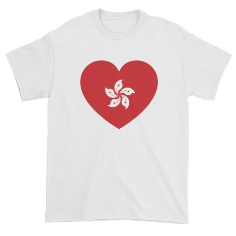 HONG KONG FLAG HEART - Mens/Unisex short sleeve t-shirt