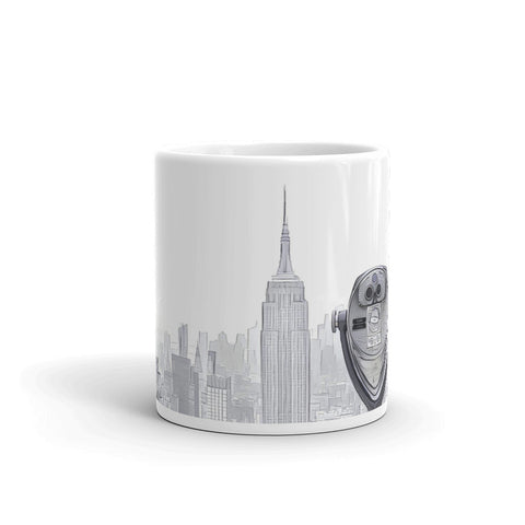 NEW YORK CITY SKYLINE W/VIEWFINDER (B/W) - Mug