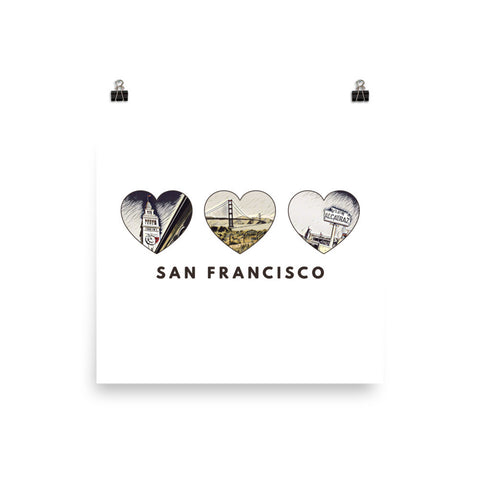 SAN FRANCISCO HEART (Browns) - Poster