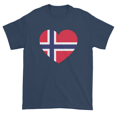 NORWEGIAN FLAG HEART (NORWAY) - Mens/Unisex short sleeve t-shirt