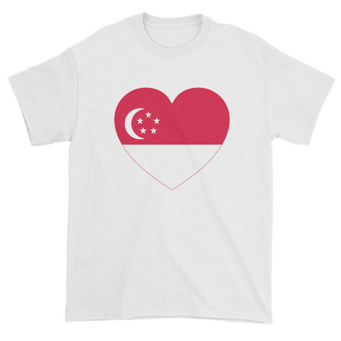 SINGAPORE HEART - Mens/Unisex short sleeve t-shirt