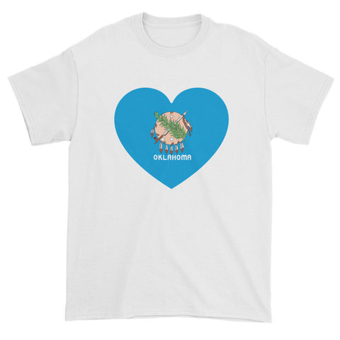 OKLAHOMA HEART - Mens/Unisex short sleeve t-shirt