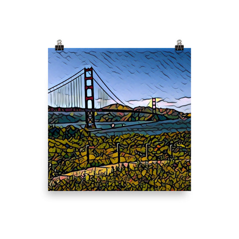 GOLDEN GATE BRIDGE w/BLUE SKY - Poster