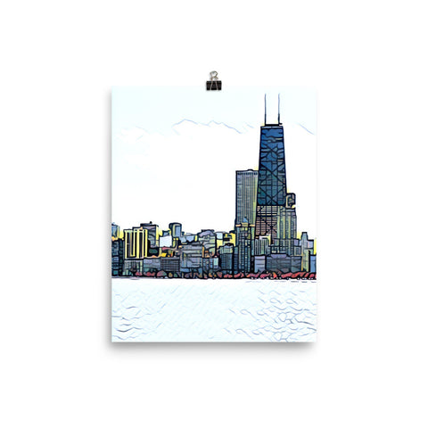 CHICAGO SKYLINE w/HANDCOCK BUILDING - Poster