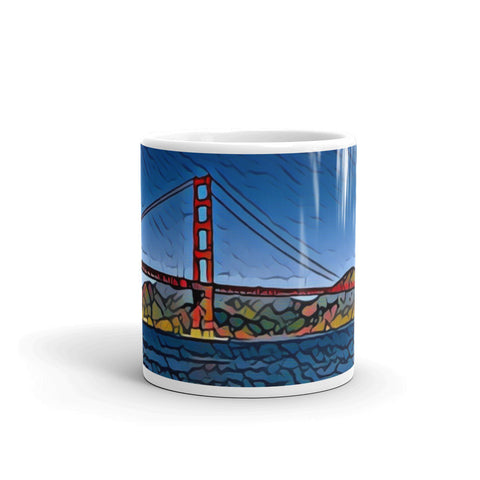 GOLDEN GATE BRIDGE (VIBRANT RED/BLUE) - Mug