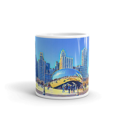 CHICAGO SKYLINE W/CLOUDGATE (Tiles) - Mug