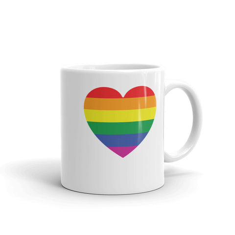 GAY PRIDE RAINBOW FLAG HEART Mug