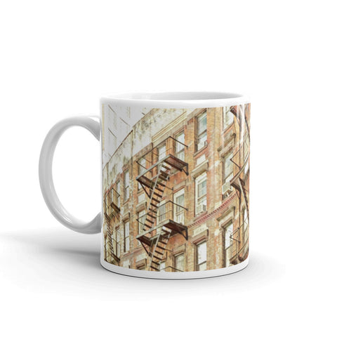 NYC FIRE ESCAPES, NEW YORK - Mug