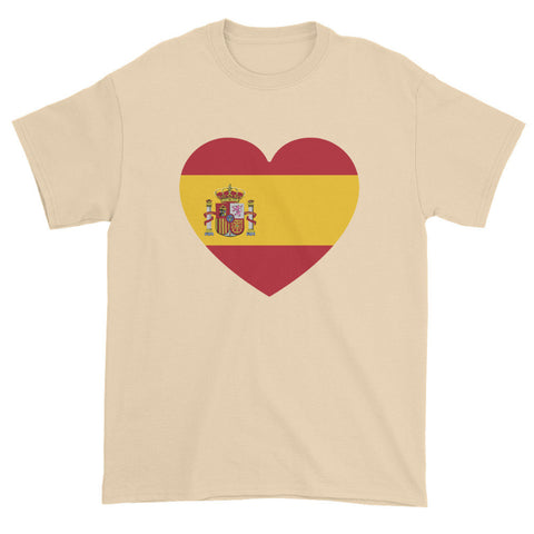 SPAIN HEART - Mens/Unisex short sleeve t-shirt