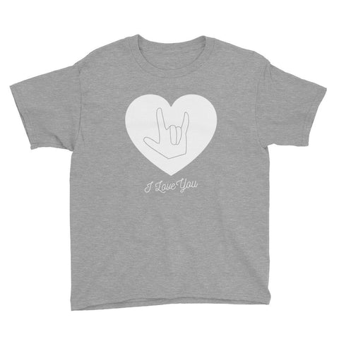 I LOVE YOU, SIGN LANGUAGE - Youth short sleeve t-shirt