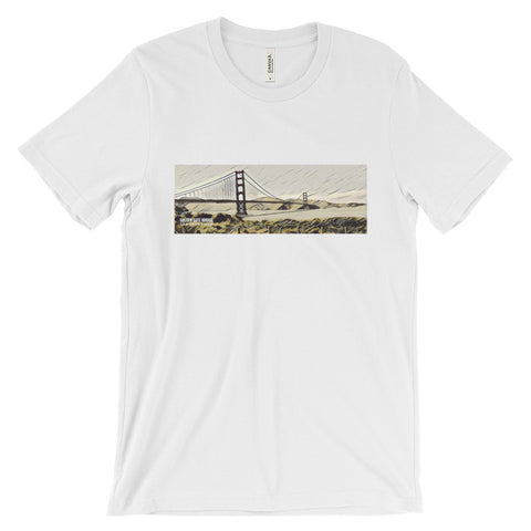 GOLDEN GATE BRIDGE (BROWN) - Unisex short sleeve t-shirt