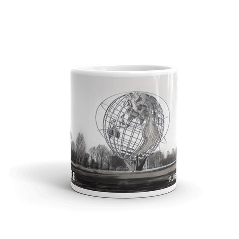 UNISPHERE, FLUSHING MEADOWS, NEW YORK (B/W) - Mug