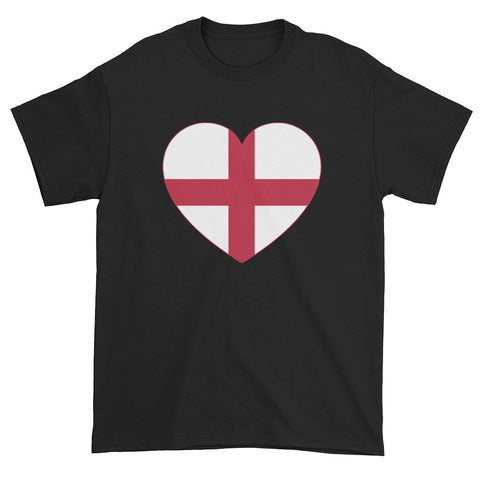 ENGLAND FLAG HEART - Mens/Unisex short sleeve t-shirt