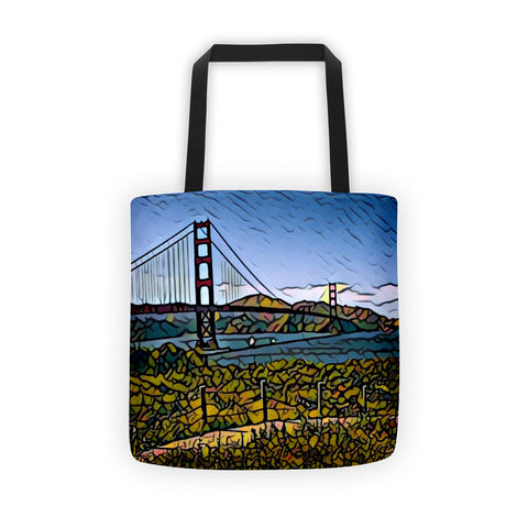 GOLDEN GATE BRIDGE w/BLUE SKY - Tote bag