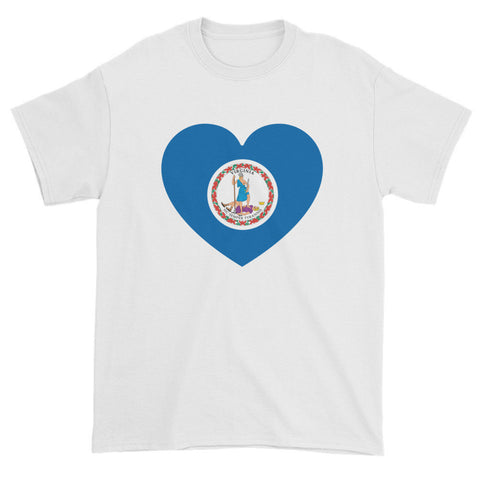 VIRGINIA HEART - Mens/Unisex short sleeve t-shirt