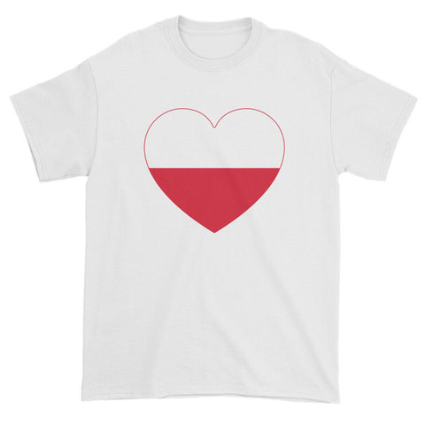 POLAND HEART - Mens/Unisex short sleeve t-shirt