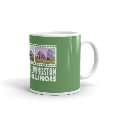 ROUTE 66 - PINK ELEPHANT ANTIQUE MALL - LIVINGSTON, ILLINOIS - Mug