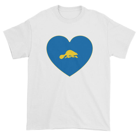 OREGON (BEAVER) HEART - Mens/Unisex short sleeve t-shirt