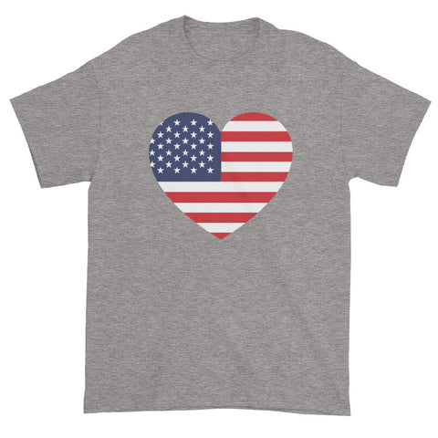 USA HEART - Mens/Unisex short sleeve t-shirt