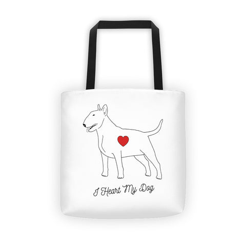 I HEART MY DOG - BULL TERRIER - Tote bag