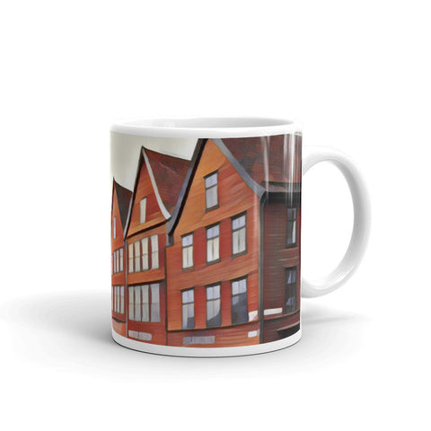 Bryggen Shops (Bergen) Norway - Coffee & Tea Mug