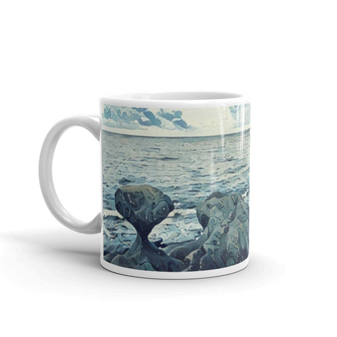 KANNESTEIN ROCK (VAGSOY, NORWAY) BLUE - Mug