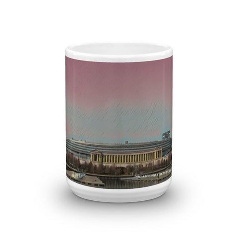 SOLDIER FIELD, CHICAGO (PinkSky) - Heavy 15 oz Mug made in the USA
