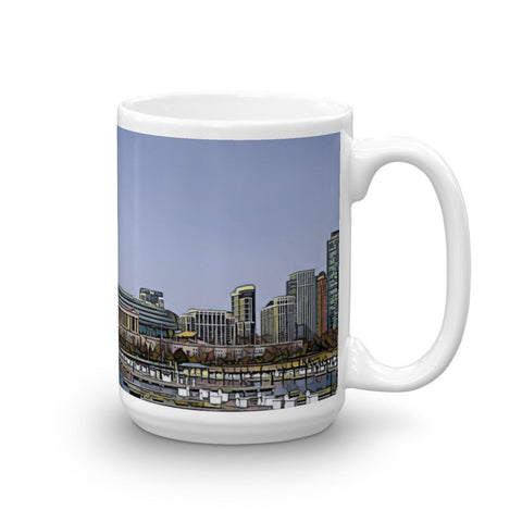 SOLDIER FIELD, CHICAGO (BlueSky) - Heavy 15oz Mug made in the USA