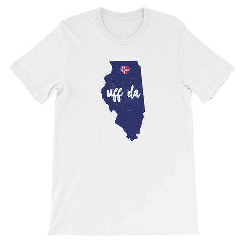 UFF DA ILLINOIS (NORWAY HEART) - Unisex short sleeve t-shirt