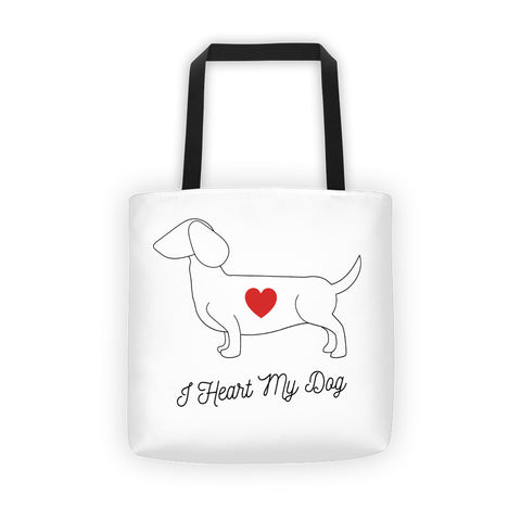 I HEART MY DOG - DACHSHUND - Tote bag