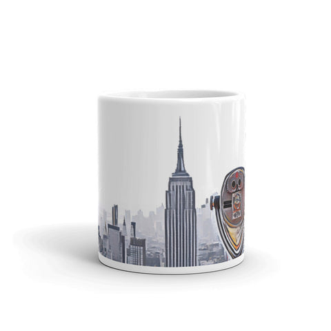 NEW YORK CITY SKYLINE W/VIEWFINDER (PopOrange) - Mug