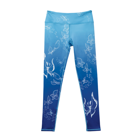 2020 Blue Butterfly Leggings