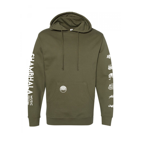 Stage Hoodie - Army Green