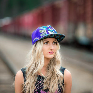 Grassroots Feather Snapback Hat