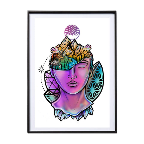 'Head in the Clouds' Art Print