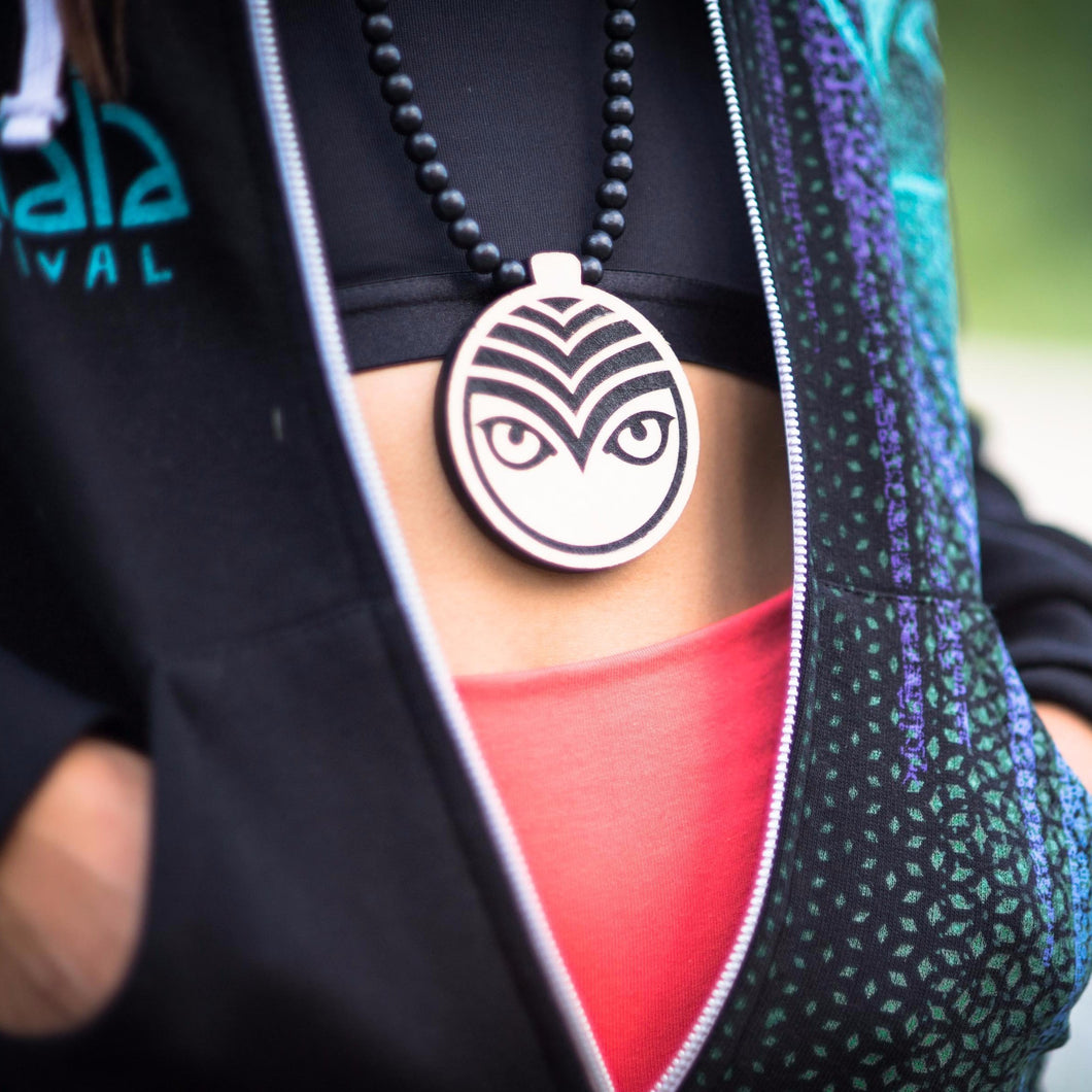 Shambhala Music Festival Wood Owl Medallion