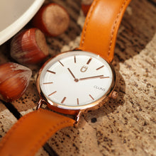 Krypton Watch Cluns Elegant Minimalist Tan Leather