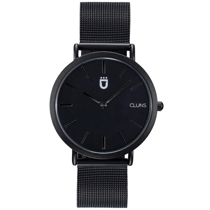 Iron Watch Cluns Minimalist Black Nylon Strap