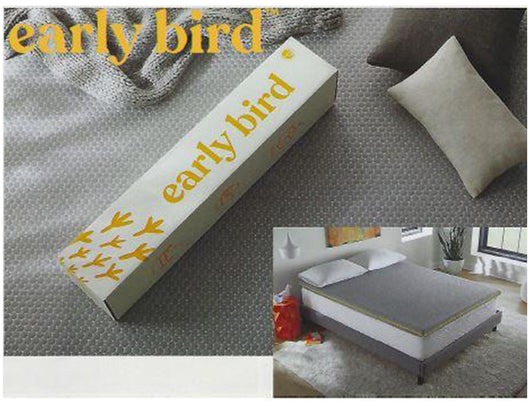 Early Bird Cooling Gel SupportSense Comfort Foam Mattress Topper